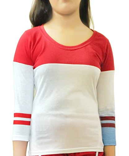 Damen Harley Fancy Dress Squad Quinn Kostüm Set -Pick & Mix (Alter 11-12 Jahre, T-shirt White/Red/Blue) (11 Jahre Alte Halloween Kostüme Uk)