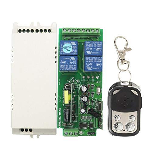 Homyl 85V-280V Dc 4-Wege 4-Taste Lichtschalter 433mhz Fernbedienung Modul - Push-Cover Vier-taste -