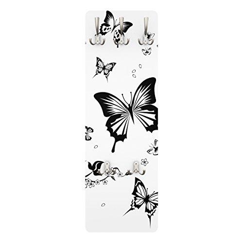 Apalis appendiabiti–fiori e farfalle 139x 46x 2cm,–appendiabiti, appendiabiti da parete, appendiabiti, appendiabiti da parete, appendiabiti, attaccapanni