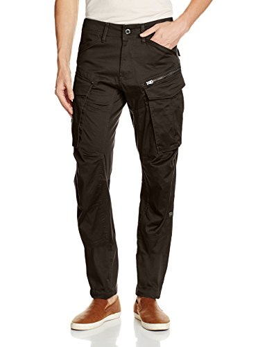G-Star Herren Rovic Zip 3D Tapered Hose, Grau (Raven), 28/32 (Zip-pocket Hose)