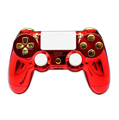 PS4 Custom Controller - Iron Man Red & Gold Chrome