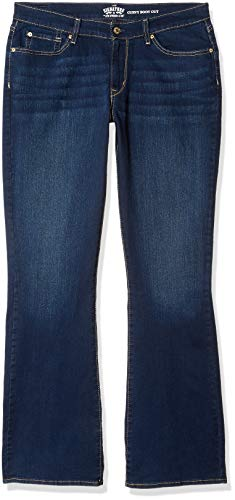 Signature by Levi Strauss & Co. Gold Label Damen Curvy Bootcut Jeans, Rev Up, 36 Lange (Strauss Jeans Levi Signature Von)