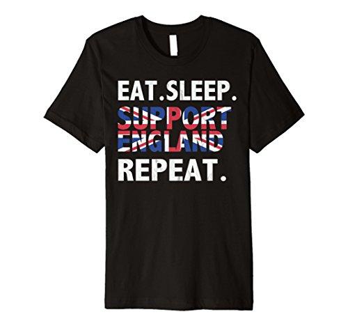 (Premium 2018Eat Sleep Unterstützung England T-Shirt Fußballfans)