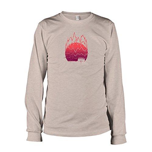 TEXLAB - Bassi Sounds - Langarm T-Shirt Graumeliert