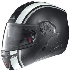 Nolan N91 EVO tira de casco modular mattweiss-schwarz Talla:XS (53/54)