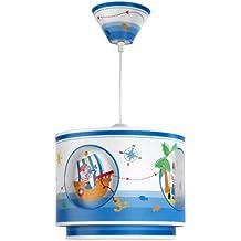 Dalber 60552 - Lámpara de Techo con diseño de Piratas, color Azul