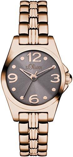 s.Oliver Damen-Armbanduhr XS Analog Quarz Alloy SO-3045-MQ