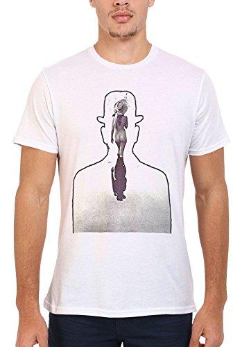 Naked Old West Cowgirl and Cowboy Retro Men Women Damen Herren Unisex Top T Shirt .Weiß