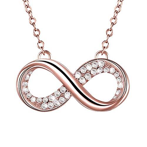 IOSUA Infinity Love Anhänger Halskette Gold plattiert Halsketten Geschenke