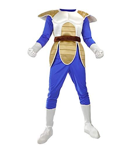 ll Vegeta Cosplay Kostüm ohne Perücke, Größe: S, Kampfanzug Bejita ()