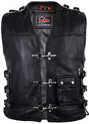 Biker Lederweste in schwarz (M)