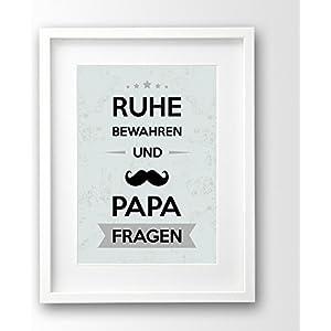 Kunstdruck ungerahmt, Geschenk-Idee Vater, Sprüche Poster, Vatertag