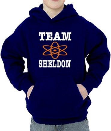 Kostenlose Kinder Sweatshirt (Team Sheldon Kinder Kapuzen Sweatshirt Navy, 152/164)