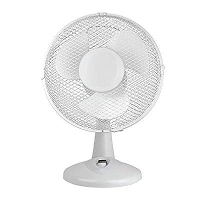 Status S9DESKFAN1PKB Portable 9-Inch Oscillating Desk Fan, White