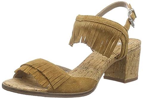 SPM Avocet Cork Sandal, Damen Knöchelriemchen Sandalen, Braun (Chestnut 010), 37 EU