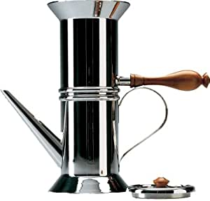 Alessi Miniature Neapolitan Coffee Maker in 18/10 Stainless Steel with Mirror Polished