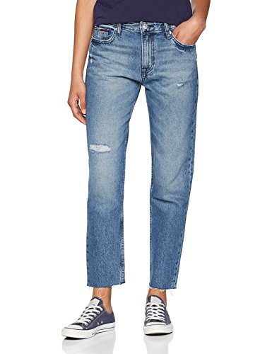 Tommy Jeans Damen High Rise  Izzy Crop   Slim Jeans Blau (Orion Mid Blue Rigid 911) W31/L30 (Five-pocket-mid-rise-jeans)