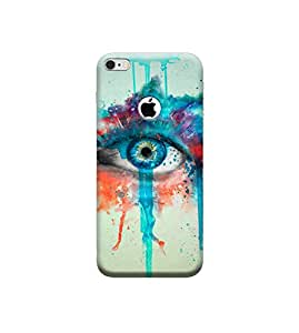 Ebby 3D Printed Back case Cover for Apple iPhone 6 with Hole(Premium Designer Case)