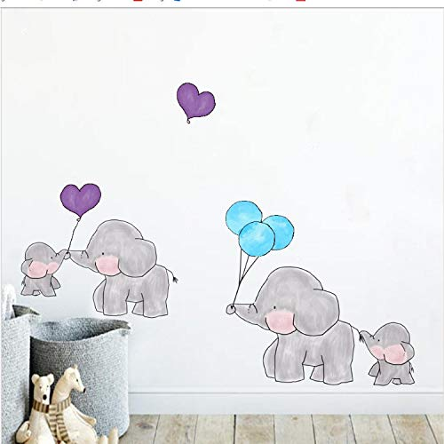 Cartone animato foresta animale elefante colore adesivi murali per bambini camere puntini colorati vinile decalcomanie di arte della parete fai da te bambino regali decorazioni per la casa