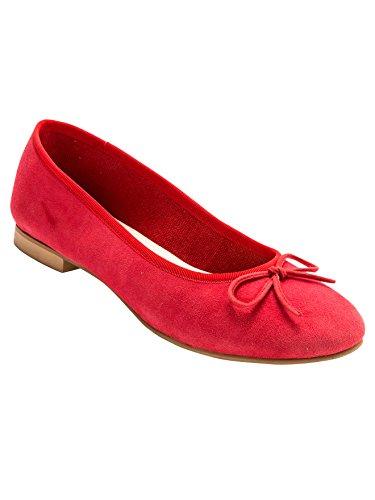 Balsamik - Ballerine piatte pelle vellutata, grande larghezza - - Size : 38 - Colour : Rosso