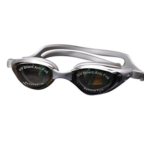 Tookang Kurzsichtigkeit Schwimmbrille (150 Bis 800) Kurzsichtig Anti-Beschlag Wasserdicht UV Schutzbrille Für Kurzsichtige Männer Frauen Und Jugend Schwimmer Grau#1 (4.8/-150)