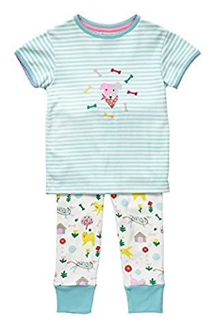 Piccalilly Organic Cotton Multicoloured Girls Dogs Day Print Pyjama