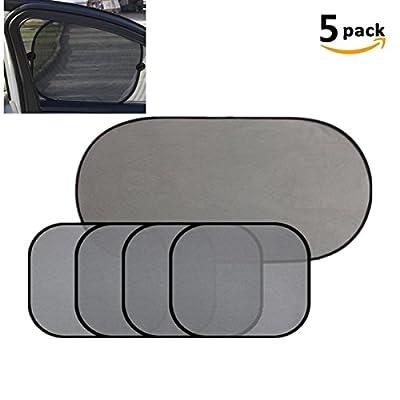 DWE 5pcs de voiture Pare-soleil, protection solaire de voiture Écran solaire de voiture Pare-soleil UV Protect film pour vitres de voitures pour bébé enfant