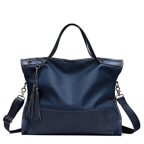 Borse per le donne Borsa in vera pelle borsa di spalla borsa in pelle Blu