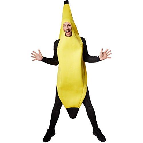 Banane Bananenkostüm | Super lustiges, ärmelloses, längeres Oberteil | Stabiles Material | Cooles und ulkiges Kostüm (L | Nr. 301626) (Bananen-kostüme)
