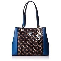 Guess Womens Handbag, Brown/Blue - SE669136