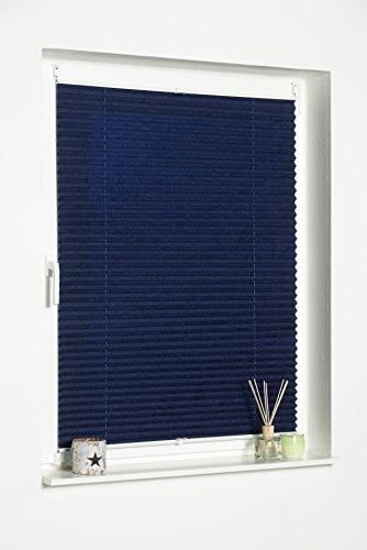 K-home Klemmfix-Plissee Palma Blau 70 x 130 cm (B x L) Lichtschutz +++ Moderne Crushed Optik +++ - 4