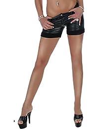 Shorts short Hot Pants lila 34 glanz violett glanz Damen Hose