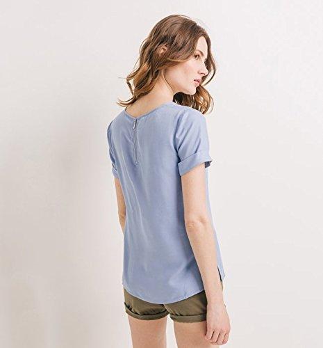 Promod Shirt aus Kreppstoff Hellviolett