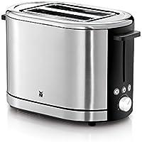 WMF LONO Toaster Doppelschlitz, XXL-Toast Brötchenaufsatz, 7 Bräunungsstufen Überhitzungsschutz 900 W Edelstahl poliert