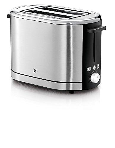 WMF LONO Toaster (900 W, 7 Bräunungsstufen, Brötchenaufsatz, Krümelschublade, cromargan poliert) silber