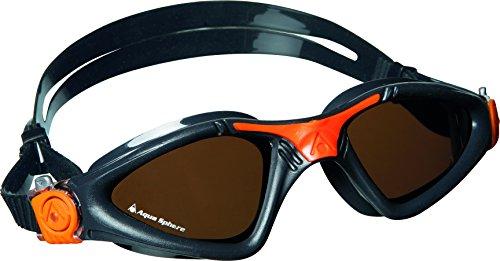 Aqua Sphere Kayenne - Occhialini da nuoto, lenti polarizzate, grigio (Grigio/arancione), N/A