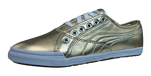 Puma Crete Metallic Cuir baskets femme Or