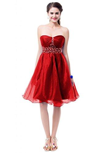 Sunvary 2015, una linea elegante e alla moda, realizzata su misura, abiti da damigella d'onore Red