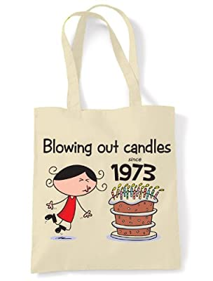 Blowing Out Candles Since 1973 40th Birthday Tote / Shoulder Bag
