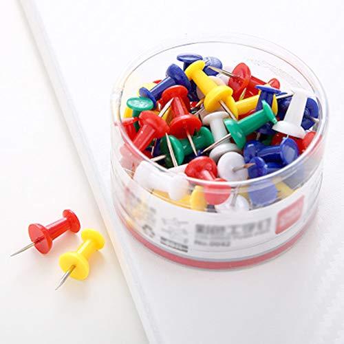 Xinlie 80 Piezas Chinchetas Corcho 5 Colores Chinchetas para Mapas, Corcho, Panel de Anuncios, Manualidades, Fabricación de Tarjetas o Scrapbooking, Fuerte y Duradero, No es Fácil de Deslizar