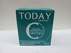 Today Sponge, 3 Contraceptive Sponges
