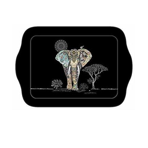 KIUB - PME03C01 - Petit Plateau DE Service Individuel Decor Jewels Elephant