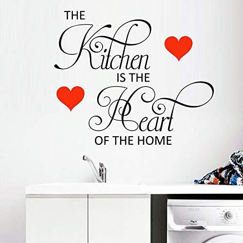 Wandaufkleber, Die Küche Ist Das Herzstück Der Wohnkultur Wohnzimmer Dekoration Vinyl Wandaufkleber Wandbild Kunst Poster 57X66Cm