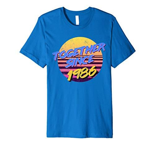 Vintage 80er Jahre MOTTO zusammen seit 1986Jahrestag Shirt