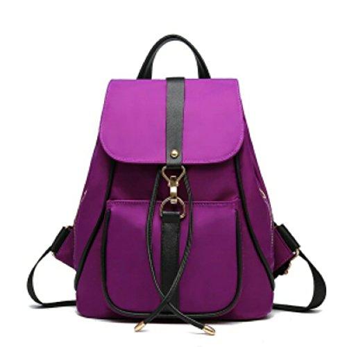 LAIDAYE La Signora Borsa Da Viaggio Di Tela Di Modo Della Spalla Di Oxford Purple