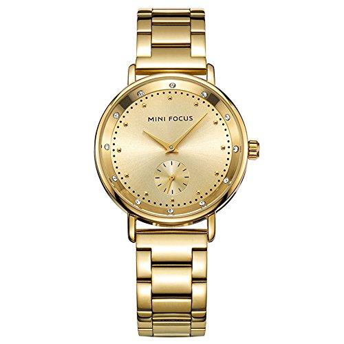 XLORDX Luxus Designer Strass Damenuhr Gold Edelstahl Uhr Optik Silber Strassuhr
