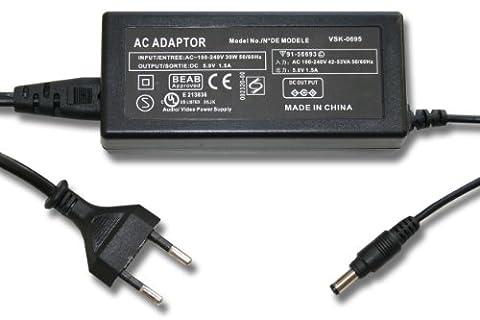 vhbw 220V Netzteil Ladegerät Ladekabel für Kamera Panasonic HDC-SD66, HDC-SD80, HDC-SD90, HDC-SDX1, HDC-SDX1H wie VSK0695, 6AS93502, u.a..