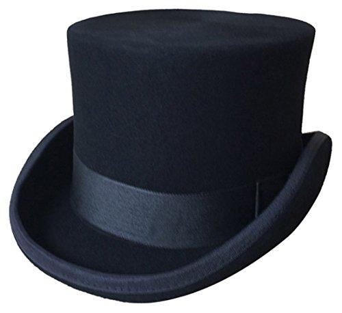 GEMVIE Zylinder Hoher Hut Magic Partyhüte Erwachsenenhut Hut Mütze für Damen und Herren Kopf 60-62cm