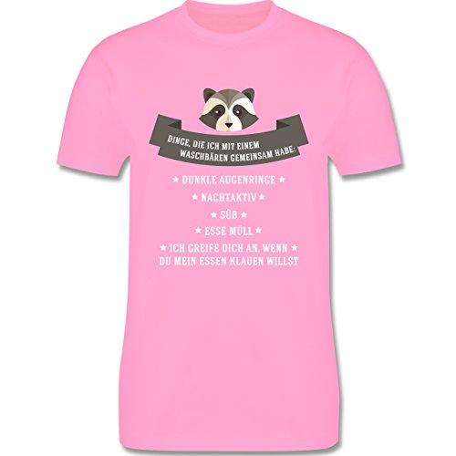 Statement Shirts - Waschbär Gemeinsamkeiten - Herren Premium T-Shirt Rosa