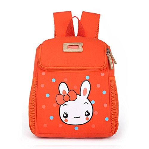 BAOSHA KD-05 Süße Mini Backpack Kinderrucksäcke Schultasche Für 1-5 Jahre Kindergarten Kleinkind Vorschule Kinder Mädchen Schulrucksäcke mit Brustgurt (Orange) Kd 4 Kinder